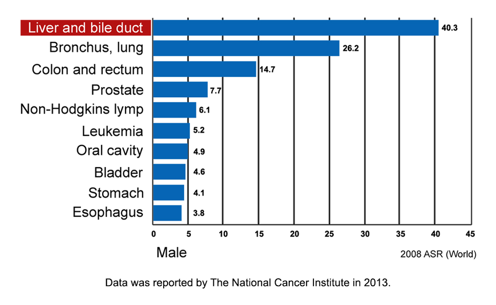 Male CCA Incidence Thailand