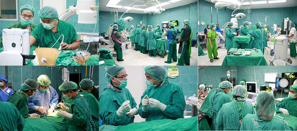 The Cholangiocarcinoma Center of Excellence, Curative Surgery Program, Srinagarind Hospital, KKU.